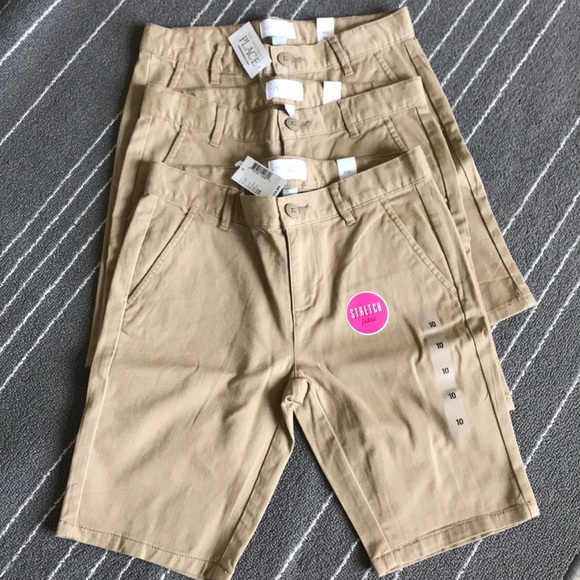 The Children's Place Other - 3 NWT khaki Bermuda shorts uniforms